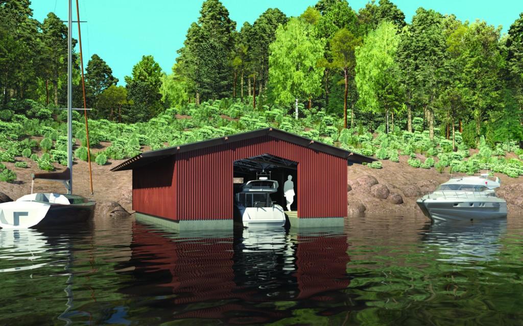 как расположить лодку в гараже